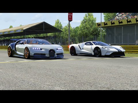 Bugatti Chiron vs Ford GT at Monza Full Course