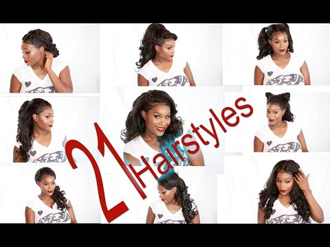 21 HAIRSTYLES! Under 10 mins. New star hair lace frontal demo