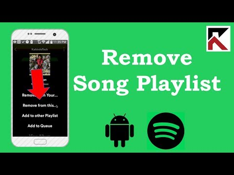 How To Remove Song From Playlist Spotify Android 2018