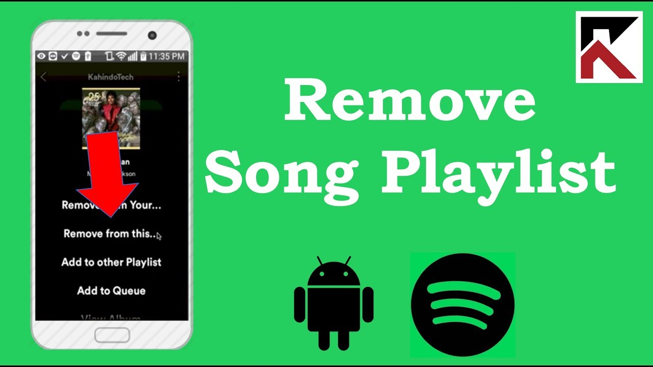 How To Remove Song From Playlist Spotify Android - YouTube