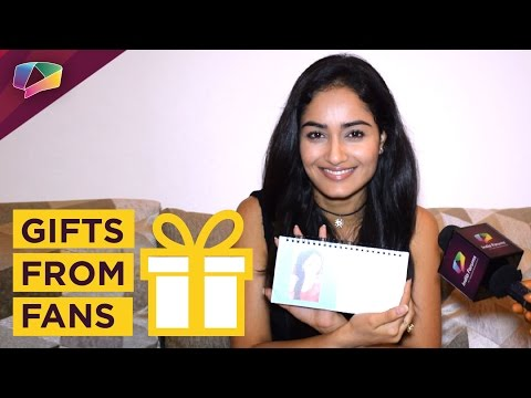 Tridha Chaudhary receives gifts from fans