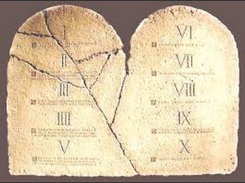 I 10 comandamenti analizzati uno per uno youtube - Le tavole della legge ...