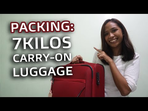 Packing: 7 Kilos Carry-On Luggage | Philippines W/ ENG SUB