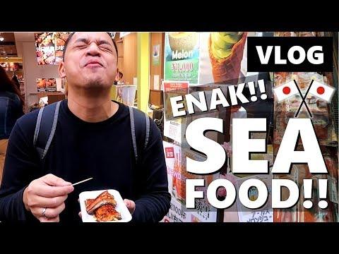 MAKAN SEAFOOD DI KUROMON MARKET OSAKA JEPANG! Japan Vlog | Vlog Keluarga | Vlog Indonesia