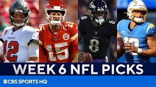 Picks for EVERY Big Week 6 NFL Game   Picks to Win, Best Bets, & MORE   CBS Sports HQ