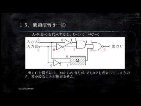 【工事担任者試験】論理回路15 問題演習8