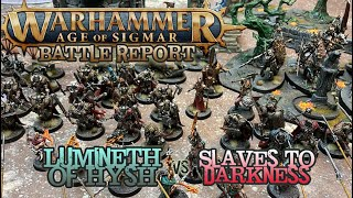 Warhammer: Age of Sigmar Battle Report - Lumineth vs. Slaves to Darkness