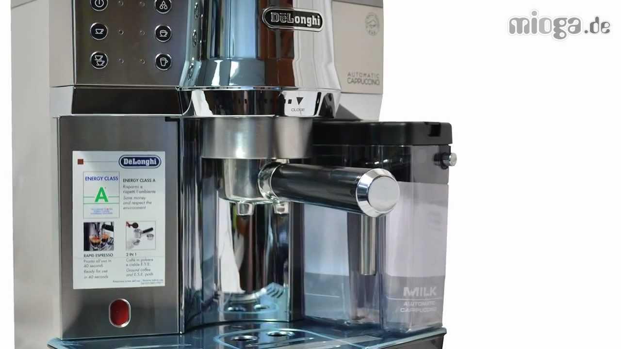 delonghi ec850 m espressomaschine siebtr ger youtube. Black Bedroom Furniture Sets. Home Design Ideas