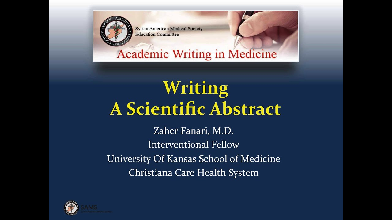 writing a scientific abstract