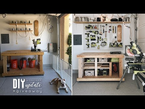 DIY Workshop Update + How To Use A Circlar Saw | Almost 100K Giveaway!