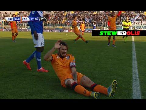 Dessena Infortunio Grave Entrata Killer (Video Completo) ● Brescia Vs Cagliari 4-0 ● 2015\2016 ● HD