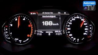 2016 Audi A4 2.0 TDI (150hp) - 0-180 km/h acceleration (60FPS)