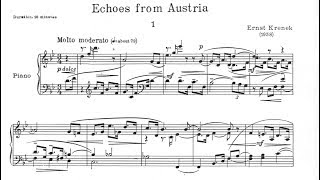 Ernst Krenek - Echoes of Austria for Piano, Op. 166 (1958) [Score-Video]