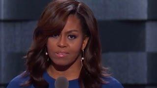 Highlights: Michelle Obama's emotional DNC speech