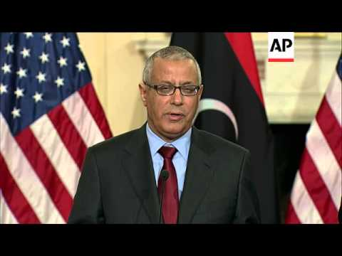 Kerry holds a bilateral meeting with Libyan Prime Minister Ali Zidan