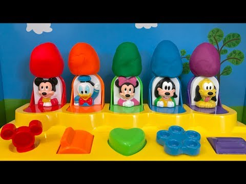 DISNEY MICKEY MOUSE Clubhouse Pop Up Pals Jouets Surprises PLAY DOH