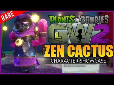 ★ZEN CACTUS SUPER RARE CHARACTER | Plants Vs Zombies Garden Warfare 2 - (Character Showcase)★