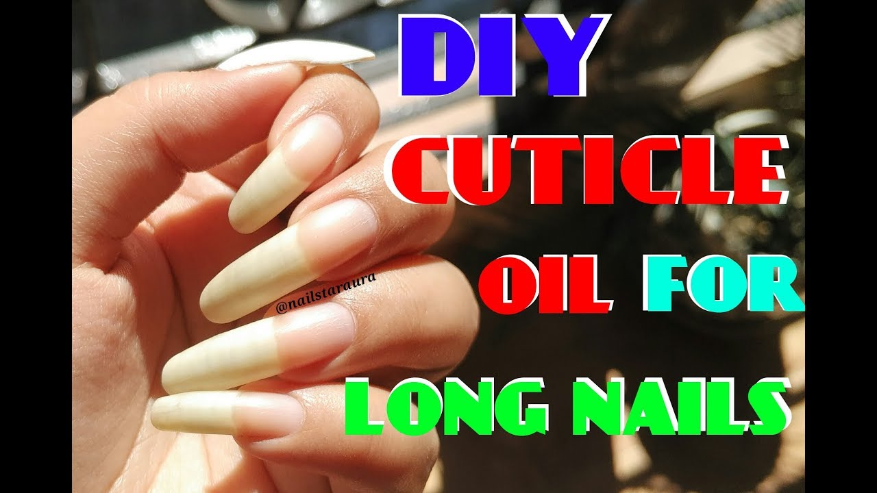 How to make DIY Cuticle Oil at Home to grow your nails LONG and ...