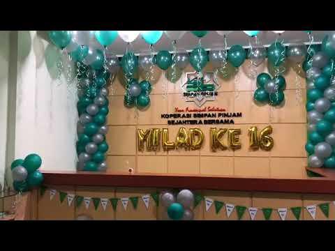 dekorasi hut kantor di yogyakarta - youtube