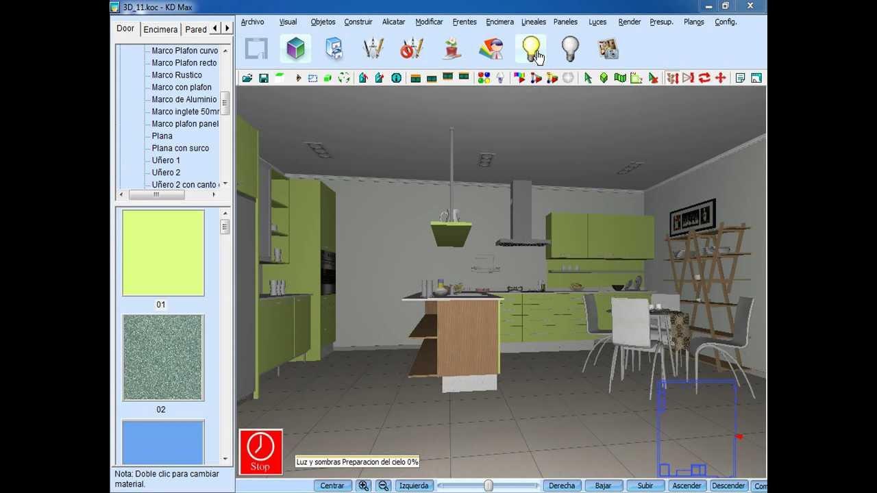Creaci n de una cocina con intericad kd max youtube for Cocina de creacion