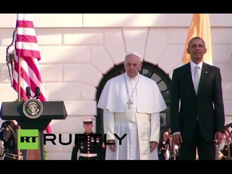 LIVE: Pope Francis meets Obama at White House