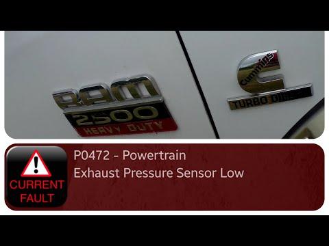 Dodge Ram 6.7 - Weak Exhaust Brake - P0472 Exhaust Pressure Sensor Low