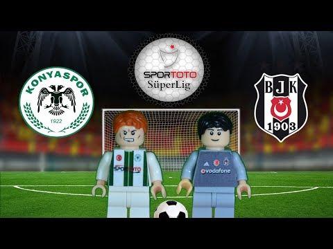 Atiker Konyaspor Beşiktaş Maç Özeti 1-1 16.02.2018  (LEGO SÜPER LİG MAÇ ÖZETLERİ)/ Lego Football