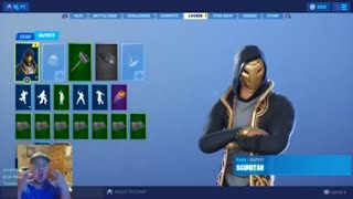 The New SCIMITAR Skin Gameplay on Fortnite| Add Me and Join us| Special Guest Twitch Yeck