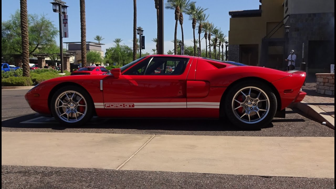 Ford Gt In Red Paint White Stripes Engine Start Up On My Car Story With Lou Costabile