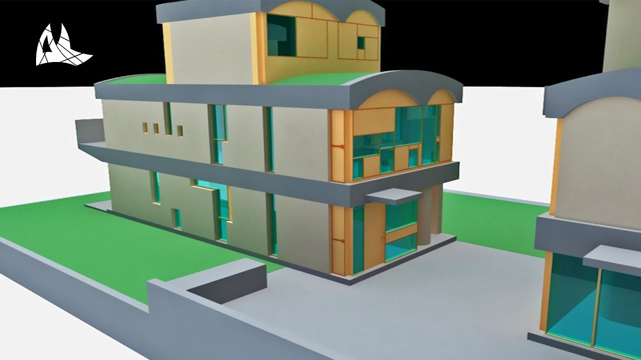 Le Corbusier Maison Jaoul Creation Of Model 3d 2010 Youtube