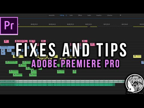 Fixes and Tips for Adobe Premiere Pro CC
