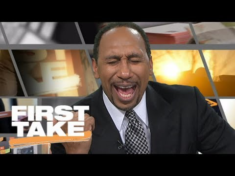 Stephen A. cannot stop laughing over Will Cain defending Cowboys | First Take | ESPN
