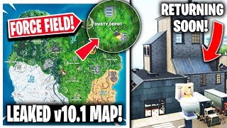 *NEW* Fortnite Update | Leaked v10.1 Map, Dusty Force Field + CONCERT Live Event!!