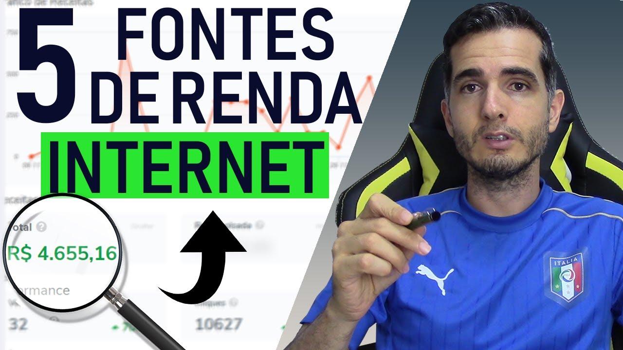 5 FONTES DE RENDA EXTRA NA INTERNET - 5 FORMAS PARA GANHAR DINHEIRO R$ 1.000,00 A R$ 3.000,00 /MÊS