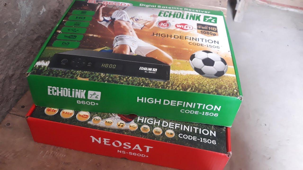 Echolink 860d+Neosat 560d+Full Hd 1080p Code 1506 For Sale Asiasat7/95e  Working