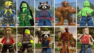 Evolution of Guardians of the Galaxy in LEGO Marvel Super Heroes (Side by Side)