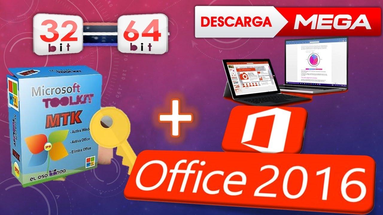 descargar office 2016 full español activador 32 64 bits mega