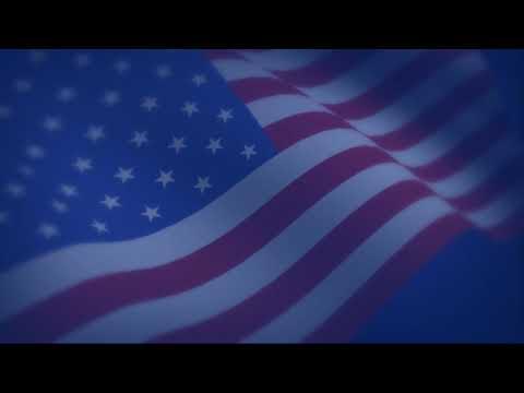 USA American Flag Waving Loop Background
