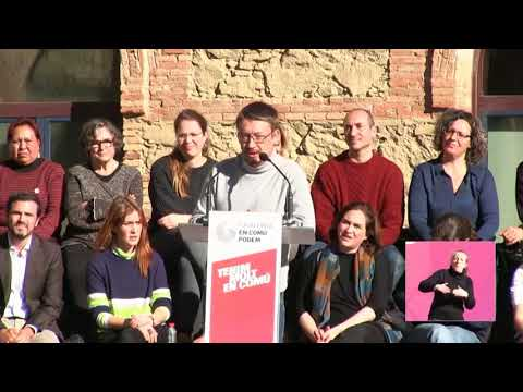 Xavier Domènech Nou Barris Acte central de campanya