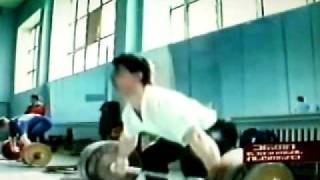 Akakios Kakhiasvilis 160 Kg Snatch in Training