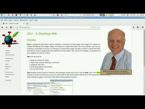 Update available (About zim, a Desktop Wiki; Part 1/3: Highlights)