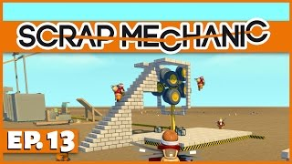 Scrap Mechanic - Ep. 13 - Multiplayer Dwarf Tossing! - Let's Play Scrap Mechanic Gameplay