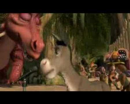 Shrek's karaoke dance party