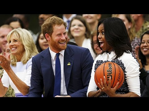 Prince Harry promotes Invictus Games with Michelle Obama
