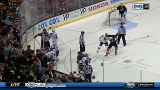 Micheal Haley vs Josh Manson & Dan Kelly vs Ryan Kesler Oct 9, 2016