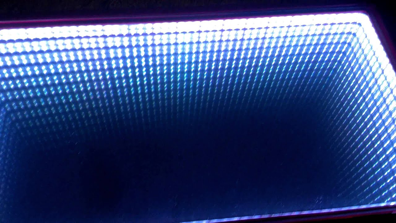 art mirror light coffee table. infinity mirror. - youtube