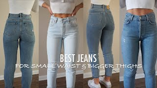 UPDATED Top 5 Favorite Jeans for small waist & bigger thighs