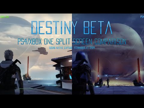 destiny beta xbox one and ps4 split screen video. Black Bedroom Furniture Sets. Home Design Ideas