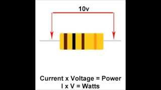 Calculate Resistor Power and an easy way to remember the formula