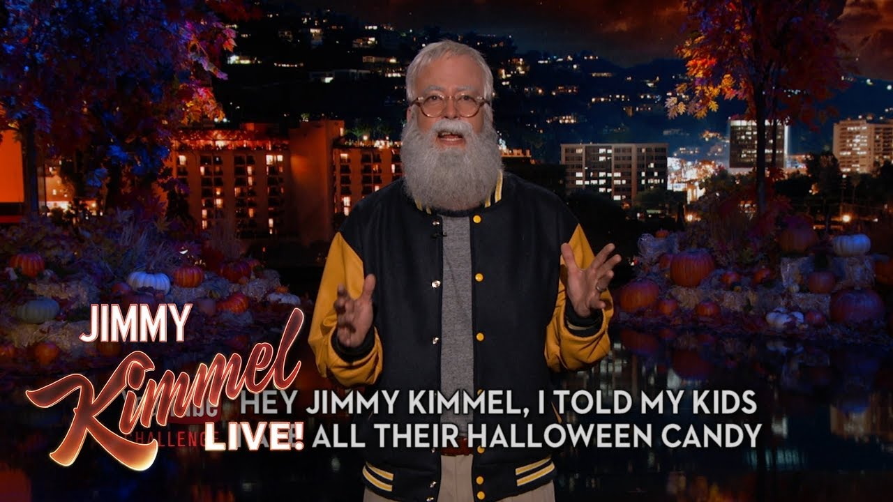hey jimmy kimmel, i told my kids i ate all their halloween candy